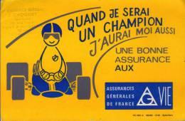Buvard - Assurances Générales De France - Formule 1 - Tampon CHOQUET PONT A MOUSSON - Buvards, Protège-cahiers Illustrés