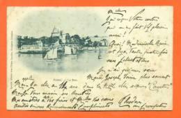 "Dpt  44  Pornic  ""  Le Port  ""  Carte Precurseur 1901 - Pornic"