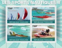 TOGO 2010 - Water Sports II - Mi 3663-6, YT 2236-9