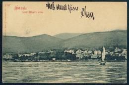 Abbazia Vom Meere Aus -- Edition C. Ledermann Jr. Wien I  -- Old Postcard -----  Primorsko-goranska Zupanija (Primorje-G - Croazia