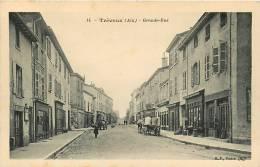TREVOUX - Grande Rue Animée - Edition B.F. Paris - 2 Scans - Trévoux