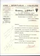Entête 11/07/1945  -  MOURMELON  LE  GRAND  ( Marne )  -  Gabriel  LERAT  -  Vins  Spiritueux  Liqueurs - France
