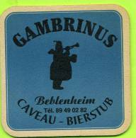 Autres Collections -  Sous-bocks : Alsace   - Beblenheim Gambrinus - Ribeauvillé Kaysersberg S'Bierladl (recto/verso) - Portavasos
