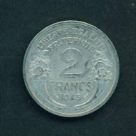 FRANCE  -  1945  2 Francs  Circulated As Scan - I. 2 Francs