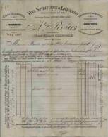 F 22 - Isére -GRENOBE - FACTURE -  De 1899 -ALCOOL - SPIRITUEUX Et LIQUEURS -  Prop. Auguste ROZIER    + Mandat à Ordre - Alcohols