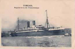 CPA * * TIMGAD * * Paquebot De La Cie Transatlantique - Piroscafi