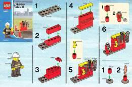 Lego 5613 Sapeur-Pompier avec plan 100 % Complet