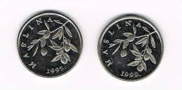 KROATIE  2 X 20  LIPA  1995/1999 - Croatie
