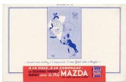 Buvard - Pile MAZDA - N°12 - Illustration DUBOUT - Buvards, Protège-cahiers Illustrés