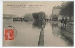 77 - BRAY Sur SEINE - Innondation De La Vallée De Bray En Janvier  Et Février 1910 - Le Quai De L'Île Le 14 Février - Bray Sur Seine