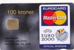 Denmark, DD 226. Pbs Euro 2000, UEFA ,Mastercard, 2 Scans. - Danemark