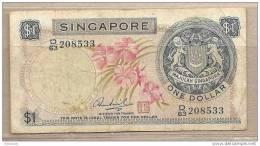 Singapore - Banconota Circolata Da 1 Dollaro - 1967 - Singapore