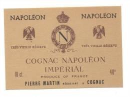 Etiquette De Cognac  Napoléon Impérial  -  Martin - Labels