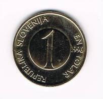 SLOVENIE 1 TOLAR  1996 - Slovénie