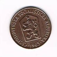 TSJECHOSLOWAKIJE  50 HALERU  1965 - Tchécoslovaquie