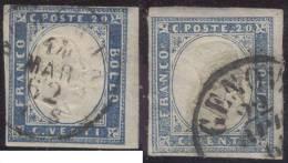 ITALIA REGNO - SARDEGNA ? - 20 C - DIFERENT COLORI - GENOVA 1861/62 - BUONO - 1861-78 Vittorio Emanuele II