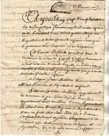 SAINT ROMAIN DE BENET /SAUJON/ MANUSCRIT /ACTE DE NOTAIRE/ VENTE D UN CHAI LE 22 PLUVIOSE AN 7 /10 FEVRIER 1799 - Manuscrits