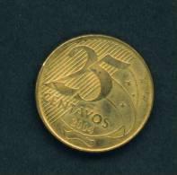 BRAZIL  -  2004  25 Centavos  Circulated As Scan - Brazil