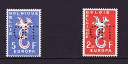 Europa CEPT Belgique 1958 ***  1064/1065 Perforés OIT...rare - Europa-CEPT