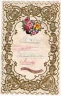 Lettre De Compliment Avec Dentelle-Chromo/Ma Petite Maman Chérie/Fête Des Méres/1943    CAN7 - Vieux Papiers