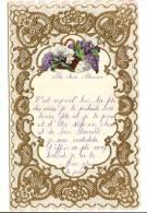 Lettre De Compliment Avec Dentelle-Chromo/Ma Chére  Maman /Fête Des Méres/vers 1940    CAN8 - Vieux Papiers