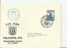 DENMARK 1970 – FDC PHALCOPHIL F.F.F. . EXHIBITION – GREENLAND DAY - ADDR TO COPENHAGEN  W 1 ST OF 60 C  POSTM. MAR 14 - FDC