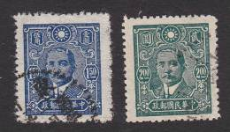 China, Scott #501-502, Used, Dr. Sun Yat-sen, Issued 1942 - 1912-1949 Repubblica