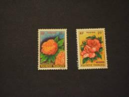 POLYNESIE - 1962 FIORI 2 Valori - NUOVI(++)-TEMATICHE - Polinesia Francese
