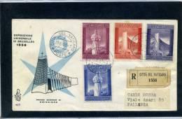 Vaticano - Fdc Venetia 1958 - Expo Bruxelles - FDC