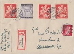 DR R-Brief Mif Minr.788,857,3x 859 Augsburg 3.9.43 - Cartas