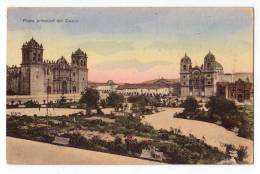 AMERICA PERU MAIN SQUARE OF CUZCO LUIS SABLICH OLD POSTCARD - Peru