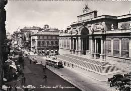 ROMA -VIA NAZIONALE -PALAZZO DELL'ESPOSIZIONE-FILOBUS -FG - Transportes