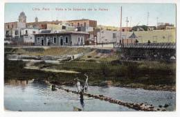 AMERICA PERU LIMA VIEW TO THE STATION LA PALMA E. POLACK - SCHNEIDER Nr. 159 OLD POSTCARD - Pérou