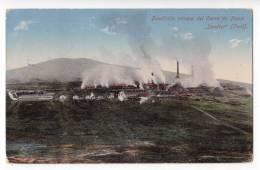 AMERICA PERU FOUNDRY HILL MINING STEP OLD POSTCARD 1921. - Peru
