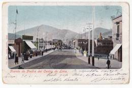 AMERICA PERU LIMA CENTER STONE BRIDGE OF LIMA Nr. 6275 JAMMED CORNER OLD POSTCARD 1905. WITHOUT STAMP - Peru