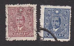 China, Scott #559-560, Used, Dr. Sun Yat-sen, Issued 1945-6 - 1912-1949 Repubblica