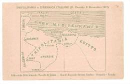 4769 COLONIE AFRICA LIBIA TRIPOLITANIA E CIRENAICA CARTINE NON VIAGGIATA CARTOLIN APATRIOTTICA - Libya