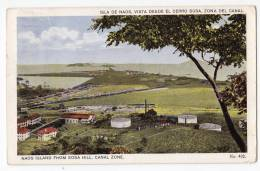 AMERICA PANAMA NAOS ISLAND FROM SOSA HILL, CANAL ZONE Nr. 432 OLD POSTCARD 1926. - Panama