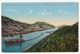 AMERICA PANAMA DREDGES EXCAVATING IN CULEBRA CUT. PANAMA CANAL OLD POSTCARD - Panama