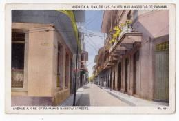 AMERICA PANAMA AVENUE A, ONE OF PANAMA'S NARROW STREETS Nr. 614 OLD POSTCARD - Panama