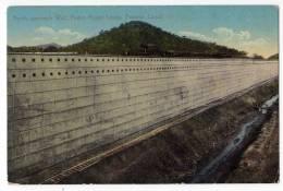AMERICA PANAMA NORTH APPROACH WALL, PEDRO MIGUEL LOCKS, PANAMA CANAL OLD POSTCARD - Panama