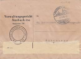 Dienstsache Mit Sonderstempel: Ansbach 1200 Jahrfeier 17.9.1948 - BRD
