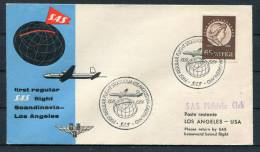 1954 Sweden - Los Angeles USA SAS First Flight Cover - Brieven En Documenten