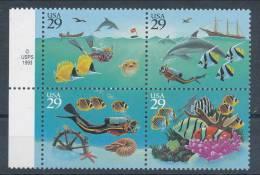 USA 1994 Scott 2863-2866a, Wonders Of The Sea, Block Of 4, MNH ** - Neufs