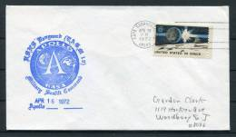1972 USA Apollo NASA Space Rocket Cover - Cape Canaveral - Covers & Documents