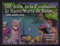 2002 Panama - Spanish Settlers - USED - SHIP + INDIANS + Indian - American Indians