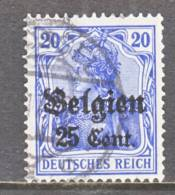 German Occupation Belgium N 18  (o) - Occupation 1914-18