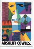 Ref 98  : CPM Carte Promo Pub Absolut Vodka COWLES - Pubblicitari