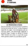 Sport, Rugby, Roger Couderc, Supporter Du Quinze De France / Mort En 1984 / Photo Du Journaliste Télé TV - Unclassified