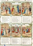 3 Chromos Grand Format, Au Bon Marché,Peau D'Ane, La Belle Au Bois Dormant, Malbrough - Au Bon Marché